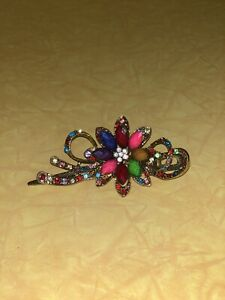 Large Golden & Decorated Hair Pin