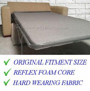 Reflex Foam Replacement Sofa Bed / Caravan Mattress 132cm x 182cm x 5cm New