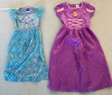 Girls Disney Princess Nightgowns LOT OF 2 Elsa Sz Small Rapunzel Size 7/8 Fancy