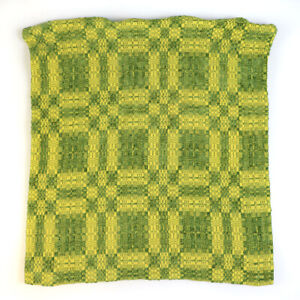 Crate & Barrel Webley Yellow & Green Mod Psychedelic Pattern Pillow Cover 19x20