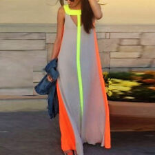 Sexy Womens Ladies Boho Summer Beach Evening Party Long Maxi Chiffon Dress EI