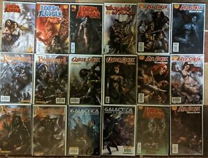 RED SONJA + Blackbeard+ GALACTICA LOT of 18 COMICS, Rare early PARRILLO Artwork