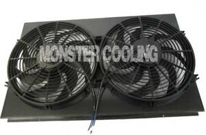 "28 1/4"" Carbon Fiber Radiator Fan Shroud & Dual 14"" Fans,Fits 161"