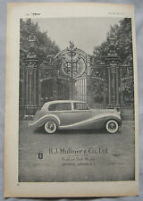 1953 H.J. Mullier Rolls Royce Original advert No.1