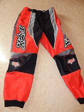 FOX Motocross Motorcross Dirt Bike Pants Red Black White Youth Boy's Size 26