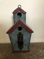Birdhouse, Decorative, Metal, Item Can Be Hung, Has Faux Handle