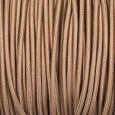 High Quality British Made Fabric Braided 3 Core Lighting Flex 0.5mm 120+ Styles