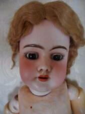 "HANDWERCK 99 DEP GERMAN BISQUE 22"" JOINTED COMPO WOOD BODY BROWN EYED DOLL"