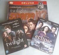 Scene It The DVD Game Twilight Edition and 2 sealed Twilight DVD's. Eclipse Saga