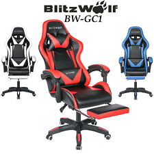 BlitzWolf Ergonomic Computer Office Racing Reclining Gaming Seat Chair Footrest