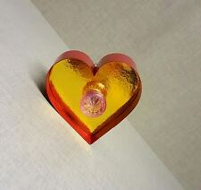 HEART Light up LED bulb Gold Red Carnival Sign Wall art Bedroom Industrial