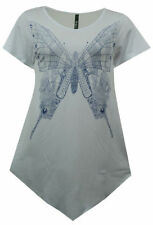 Hip Length Party Butterfly Tops & Shirts for Women