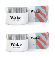 Wake Skincare Face Cream Anti-Wrinkle Moisturiser 50ml (2 Pack)