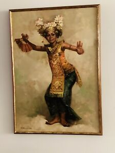 RUSTAMADJI original Oil Painting Signed 1980 Indonesia