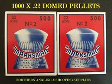 1,000. No. .22 MARKSMAN DOMED AIR RIFLE PISTOL PELLETS (2 Boxes of 500)...