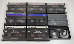 Sony Metal Hi8 Super HMP MP90 Cassette Tape Bundle - TDK Metal HS Fuji P5-60 8mm