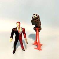 Vintage 1995 Kenner Batman Forever Two-Face w Gatling Gun Cannon Weapon Loose