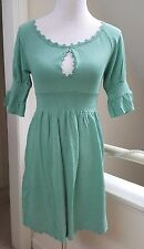 New Sexy Nanette Lepore Turquoise Green Knit Keyhole Front Dress, XS