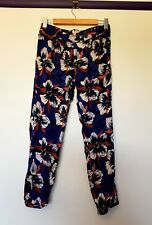 Roxy womens size S blue floral print cuffed pants