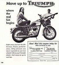 1966 TRIUMPH MOTORCYCLE ~ ORIGINAL SMALLER PRINT AD