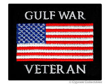 Gulf War Vet Military Patch embroidered iron-on Biker Us American Flag Usa Iraq