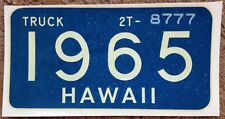 1965 Blue/Green Hawaii Authentic Truck Window License Retro New Mint Decal