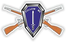 1x STICKER FOLLOW ME CROSS RIFLES decal US ARMY UNITED