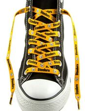 """PITTSBURGH STEELERS GOLD TEAM SHOE LACES 54"""" *LACEUPS* GAME PARTY NFL FOOTBALL"""