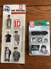 One Direction 6 Puffy Stickers And Pop Band Charm Bracelet Liam 1D
