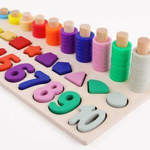 Educational Wooden Baby Toys Montessori Children Kids Busy Board Math Preschool