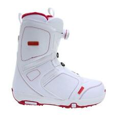 Salomon Women Pearl Snowboard Boots (8.5) White / Red