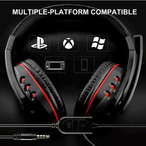 Audifonos Gamer con Microfono Para PS4 Xbox PC Nintendo Switch Conector 3.5 mm