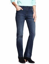 Marks and Spencer Straight Leg Mid Rise Jeans for Women