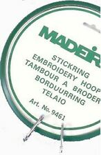 Madeira Plastic Spring Embroidery Hoop Simple Clamping Mechanism 18cm Brand New