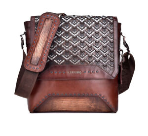 BO359LT  Lizard Messenger Crossbody by Cuadra Boots