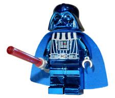 **NEW** LEGO Custom Printed - BLUE CHROME DARTH VADER - Star Wars Minifigure