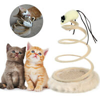 Interactive Spring Cat/Kitten Pet Toy Bouncing/Sway Spiral Play/Mouse Activity