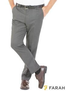 Mens Farah Superior Comfort 4 Way Active Stretch Trousers Expanding Waist