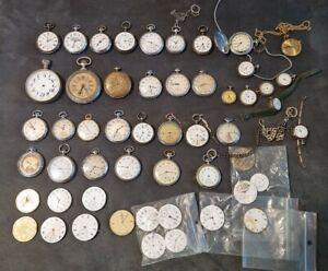Lot de montres a gousset et mécanismes et Divers -  Pocket watch