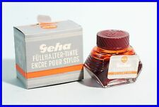 "1960er GEHA Tinte Nr 1/32 K "" Füllhalter Tinte "" brilliant Rot / OVP - Ink Pot"