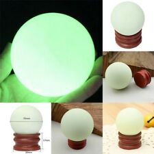 35mm Green Luminous Quartz Crystal Sphere Ball Glow In The Dark Stone With Base