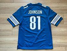 NFL DETROIT LIONS NIKE FOOTBALL SHIRT JERSEY #81 CALVIN JOHNSON
