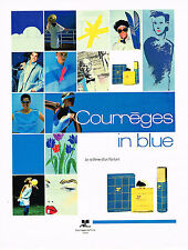 PUBLICITE ADVERTISING 074  1988  Courrèges IN BLUE  parfums