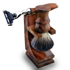 Wood Shaving Equipment 3Pcs Set / Wooden Shave Kit Barber Shop UK HARYALI LONDON