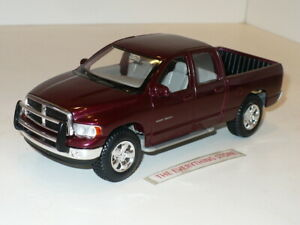 MAISTO 2002 DODGE RAM QUAD CAB PICK UP TRUCK 1:27 DARK CHERRY METALLIC FREE SHIP