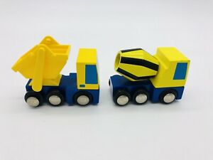 Lionel Heritage Series Garbage Truck & Cement Mixer All Aboard Wooden EUC 2p Lot