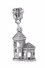Castle Fortified Tower Kingdom Fairytale Dangle Charm for European Bead Bracelet