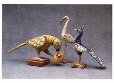 Postcard Painted Birds India c1960 Museum Int'l Folk Art Nm Mint