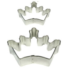 PME Metal Cookie & Cake Sugarcraft Decorating Crown King Queen Cutter Set Of 2
