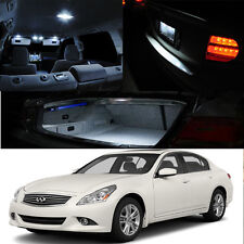 For : 03-13 G35 G37 G25 4Dr Interior Xenon White LED Light Bulbs FULL PACKAGE